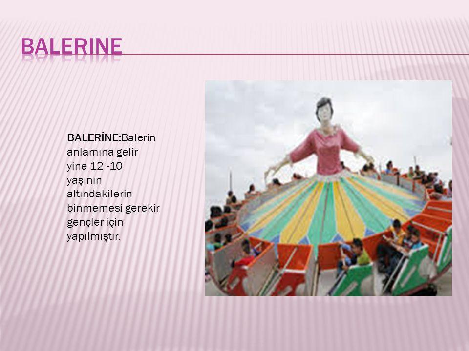 balerine BALERİNE:Balerin anlamına gelir yine 12 -10 yaşının altındakilerin binmemesi gerekir gençler için yapılmıştır.