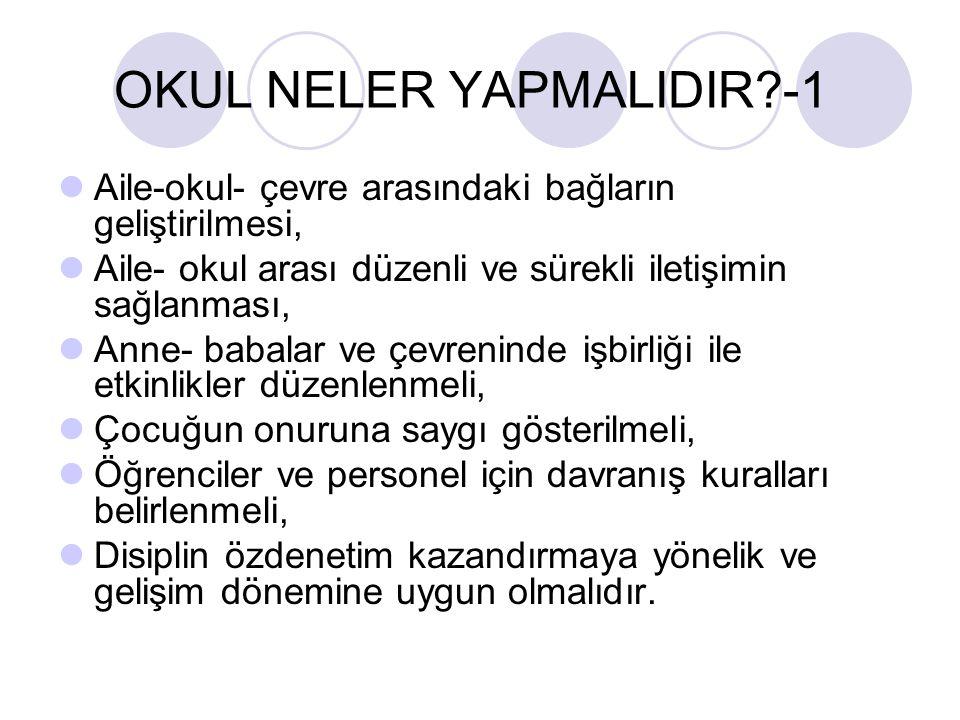 OKUL NELER YAPMALIDIR -1
