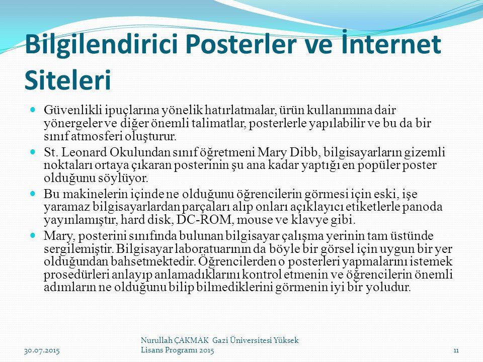Bilgilendirici Posterler ve İnternet Siteleri