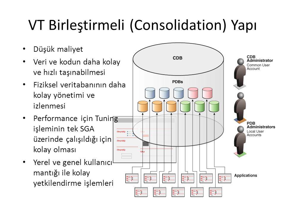 VT Birleştirmeli (Consolidation) Yapı