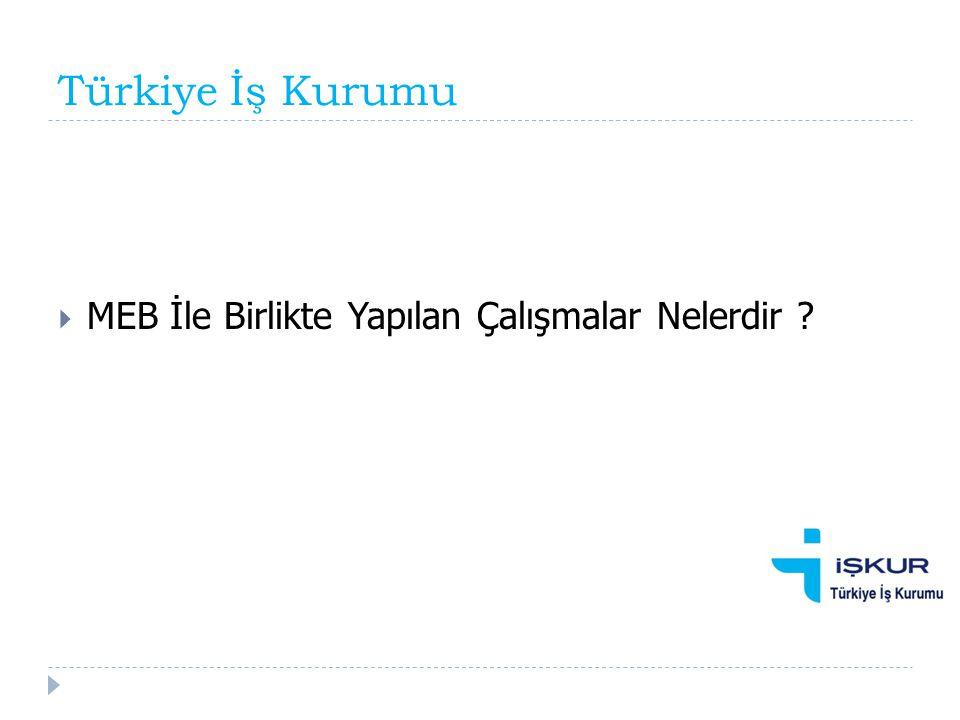 Türkiye İş Kurumu MEB İle Birlikte Yapılan Çalışmalar Nelerdir