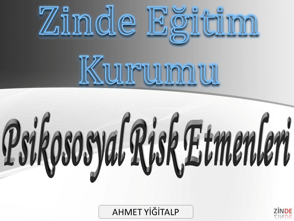 Psikososyal Risk Etmenleri