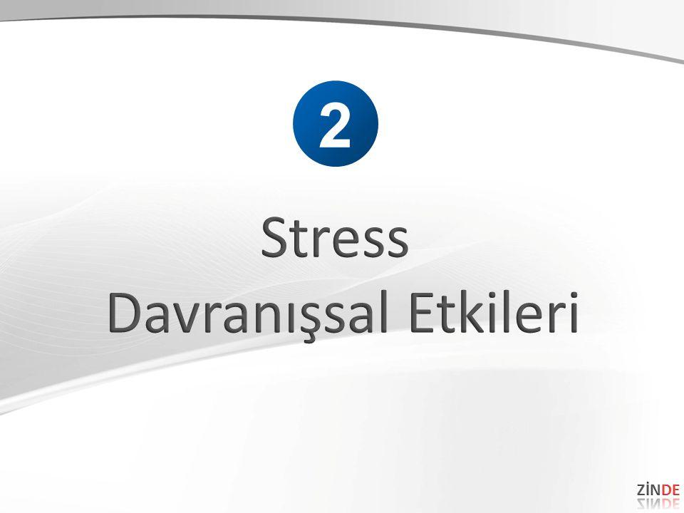 2 Stress Davranışsal Etkileri ZİNDE 41 41
