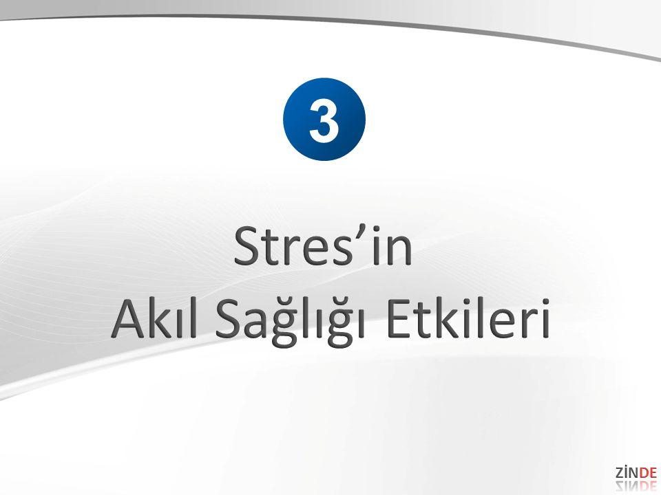 3 Stres'in Akıl Sağlığı Etkileri ZİNDE 46 46