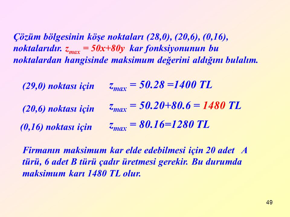 zmax = 50.28 =1400 TL zmax = 50.20+80.6 = 1480 TL zmax = 80.16=1280 TL