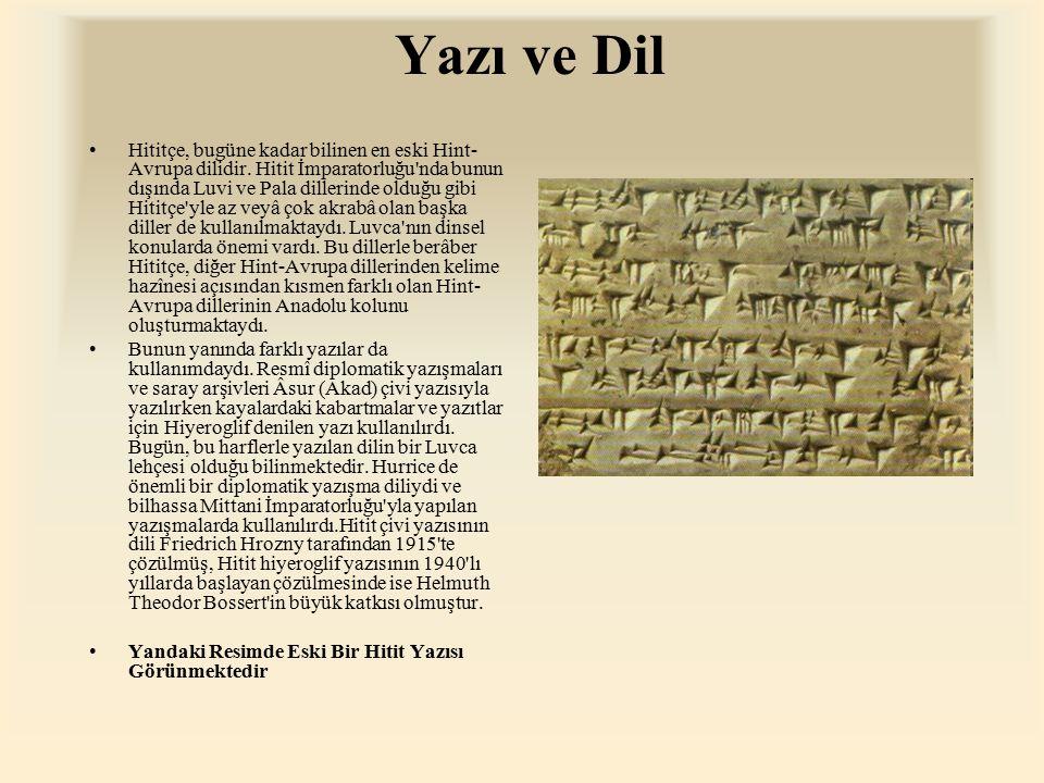 Yazı ve Dil