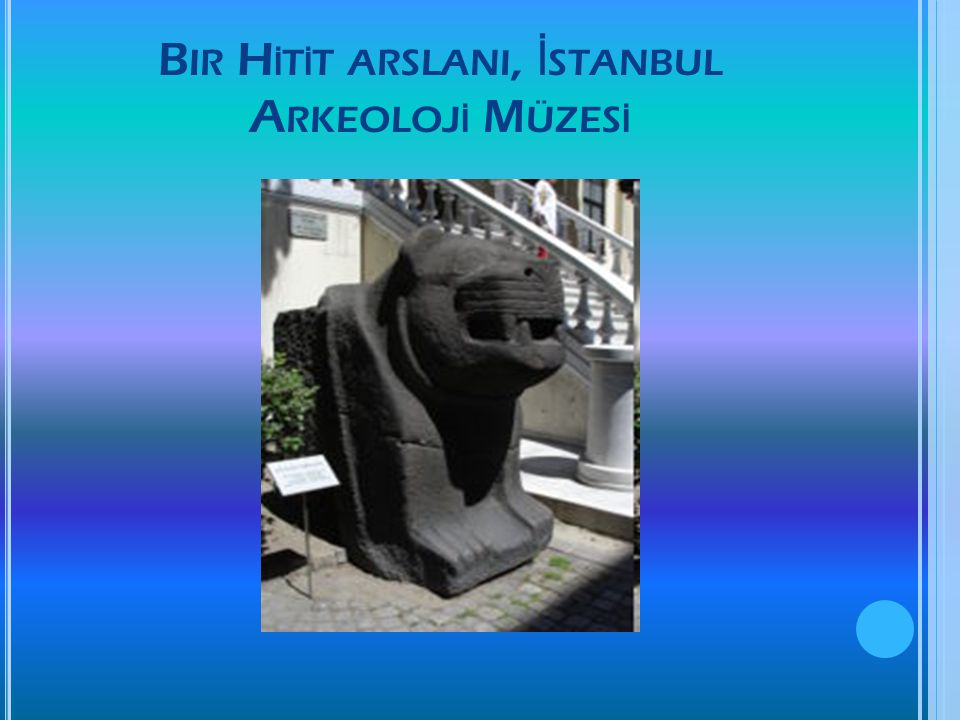 Bir Hİtİt arslanI, İstanbul Arkeolojİ Müzesİ