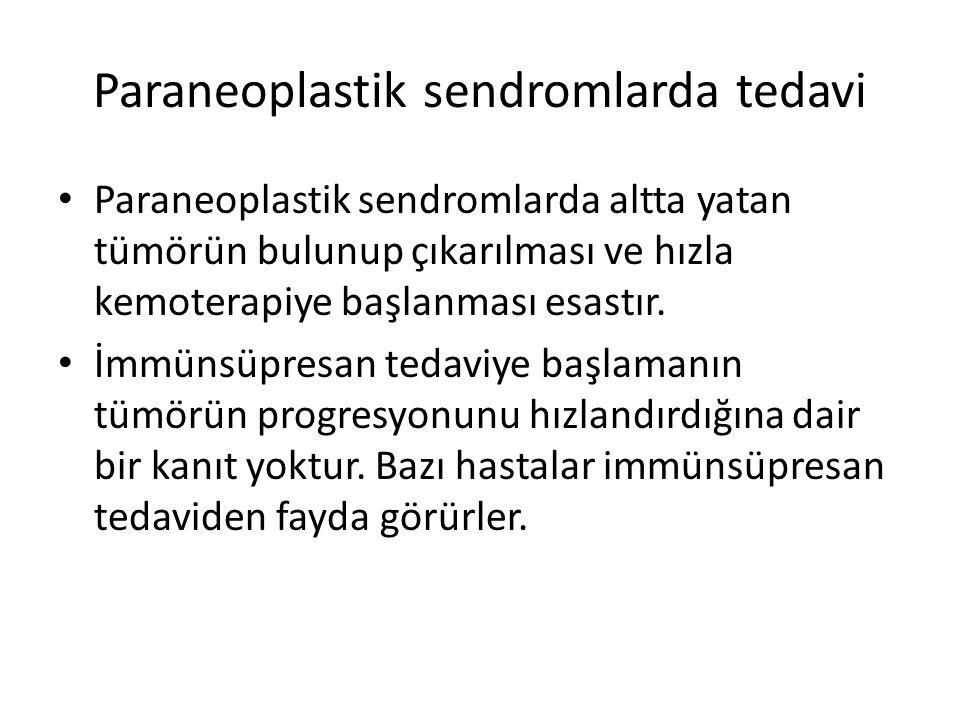 Paraneoplastik sendromlarda tedavi