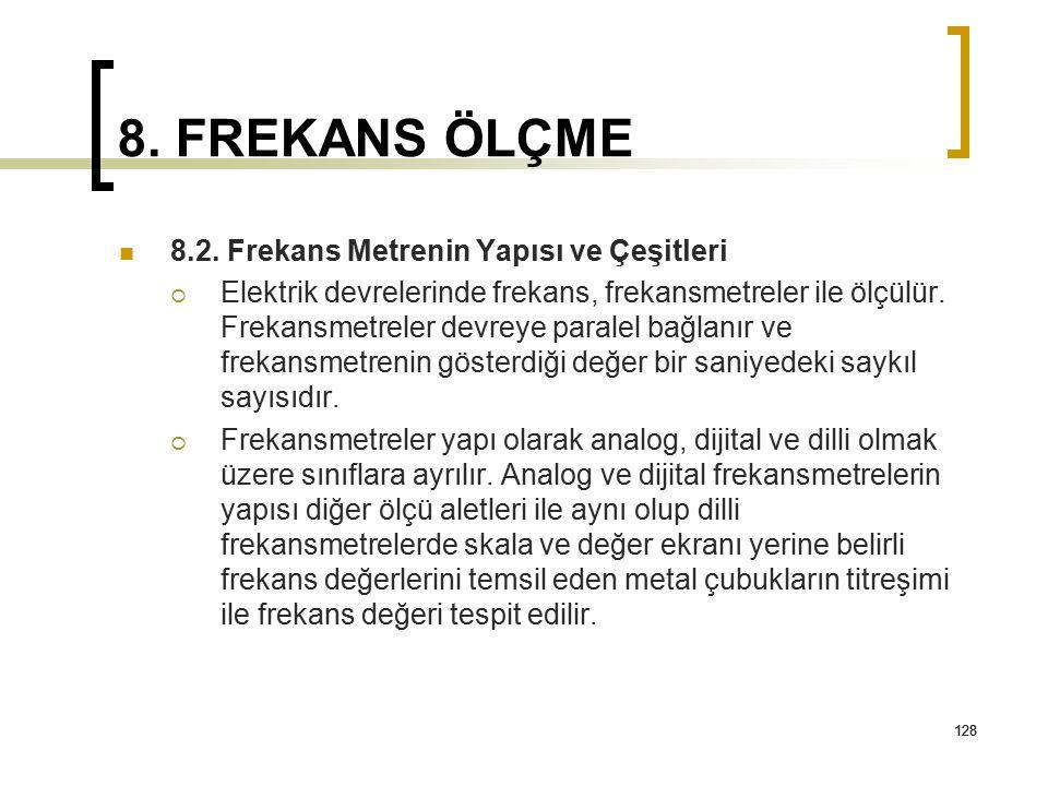 8. FREKANS ÖLÇME 8.2. Frekans Metrenin Yapısı ve Çeşitleri