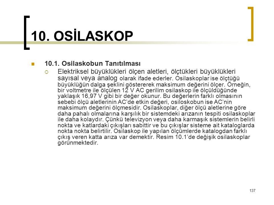 10. OSİLASKOP 10.1. Osilaskobun Tanıtılması
