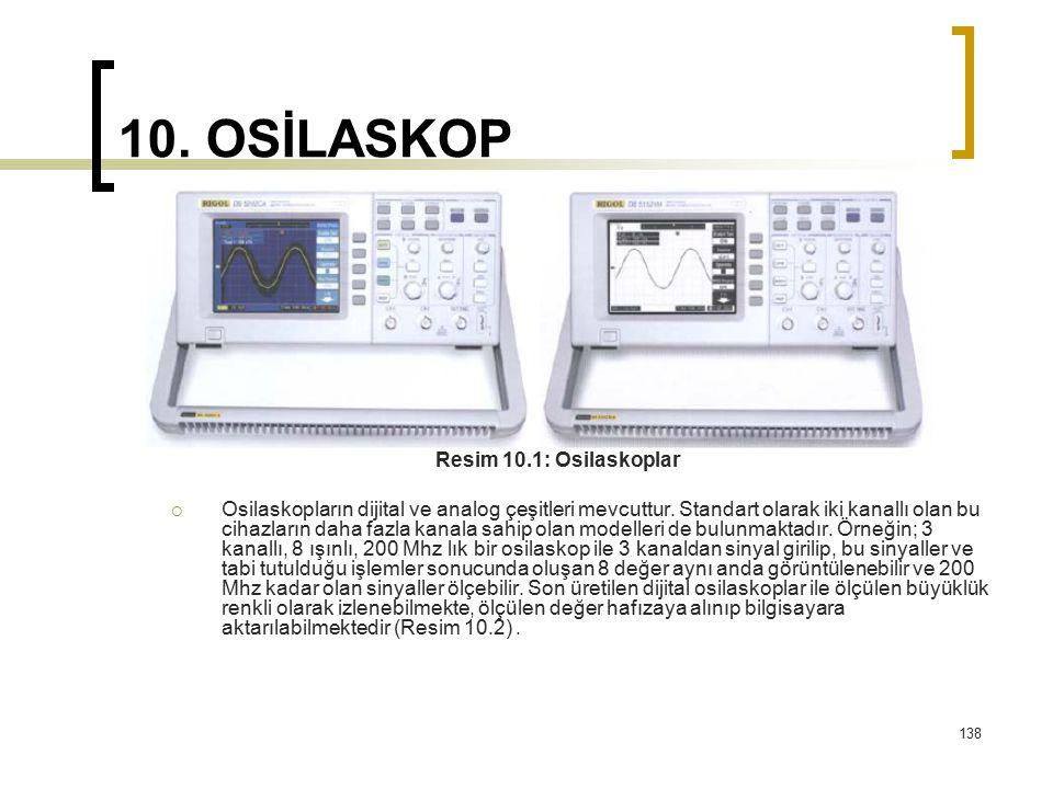 10. OSİLASKOP Resim 10.1: Osilaskoplar