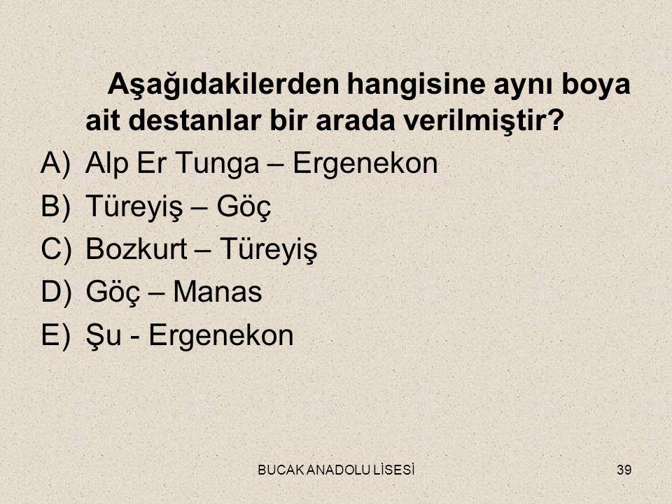 Alp Er Tunga – Ergenekon Türeyiş – Göç Bozkurt – Türeyiş Göç – Manas