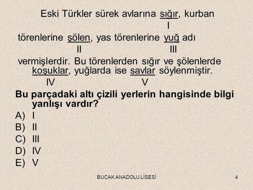 Eski Türkler sürek avlarına sığır, kurban I