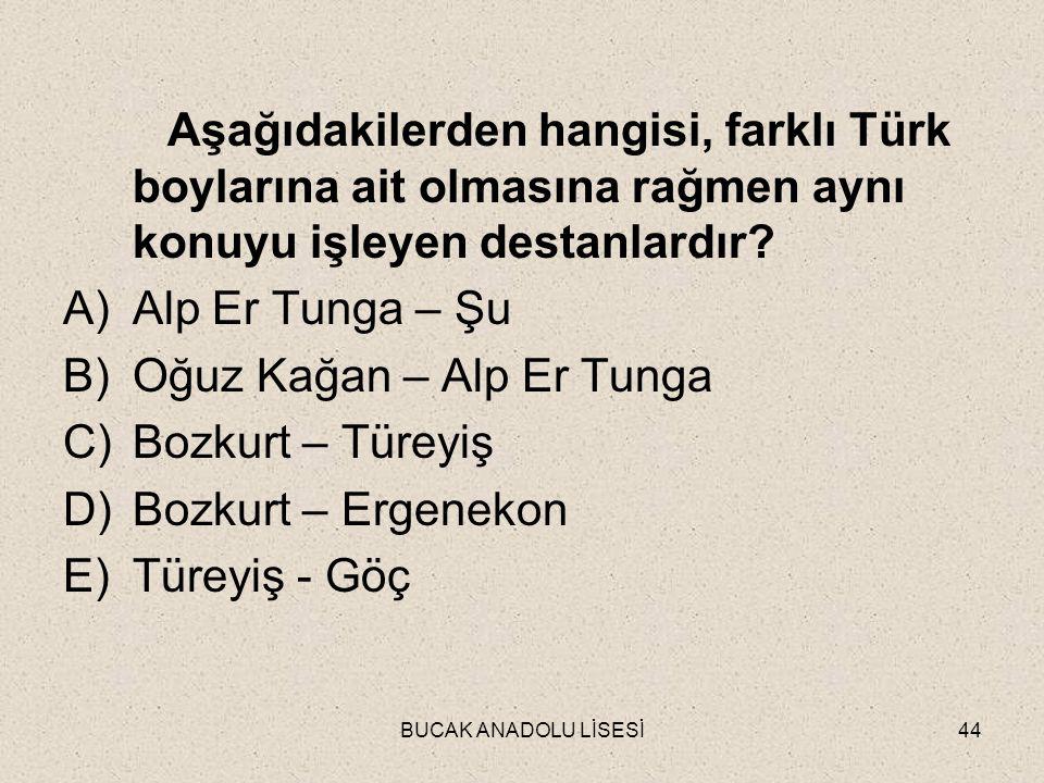 Oğuz Kağan – Alp Er Tunga Bozkurt – Türeyiş Bozkurt – Ergenekon