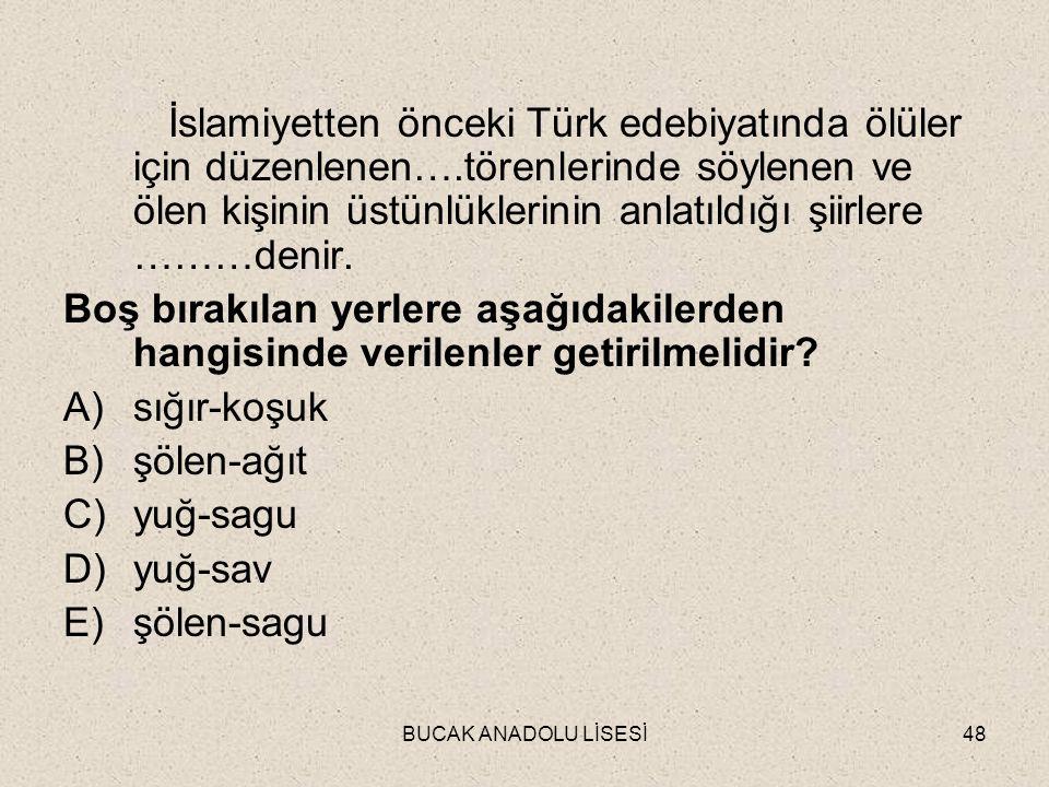 İslamiyetten önceki Türk edebiyatında ölüler için düzenlenen…