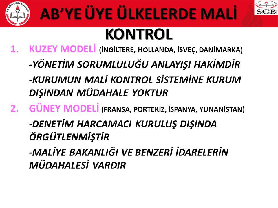 AB'YE ÜYE ÜLKELERDE MALİ KONTROL