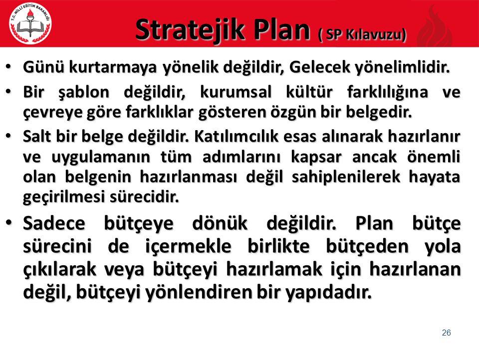Stratejik Plan ( SP Kılavuzu)
