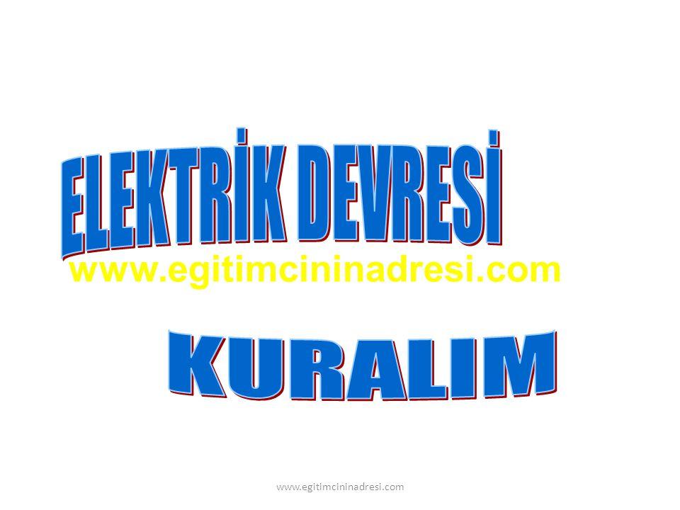 www.egitimcininadresi.com ELEKTRİK DEVRESİ KURALIM