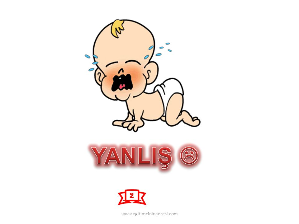 YANLIŞ  2 www.egitimcininadresi.com