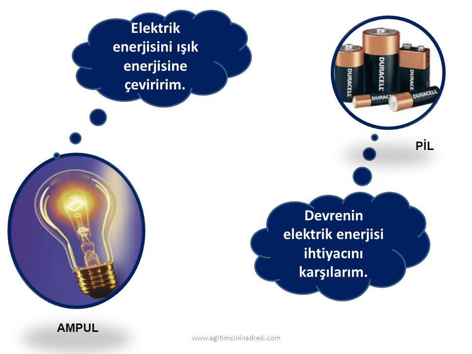 Elektrik enerjisini ışık enerjisine çeviririm.
