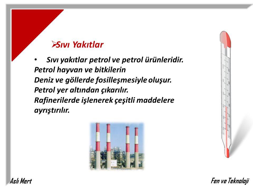 Sıvı Yakıtlar Sıvı yakıtlar petrol ve petrol ürünleridir. Petrol hayvan ve bitkilerin.