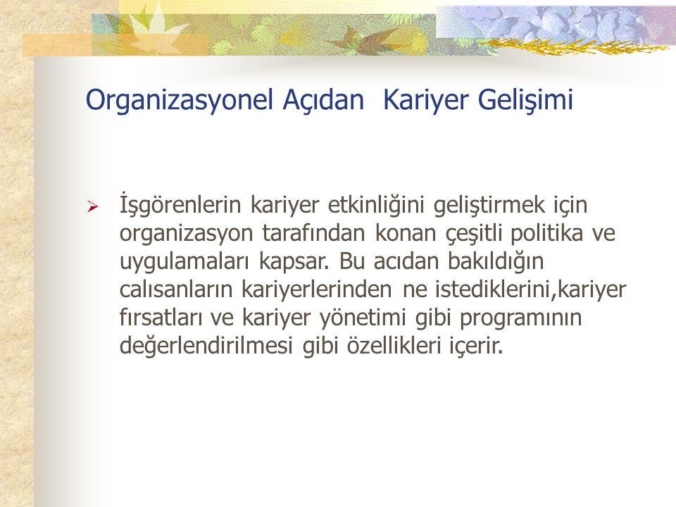 Organizasyonel Açıdan Kariyer Gelişimi