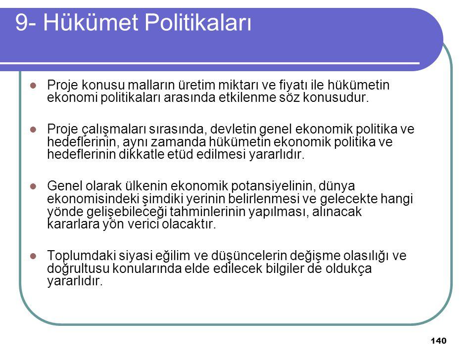 9- Hükümet Politikaları
