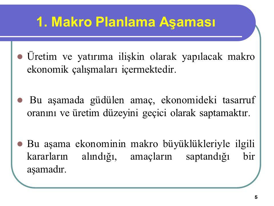 1. Makro Planlama Aşaması
