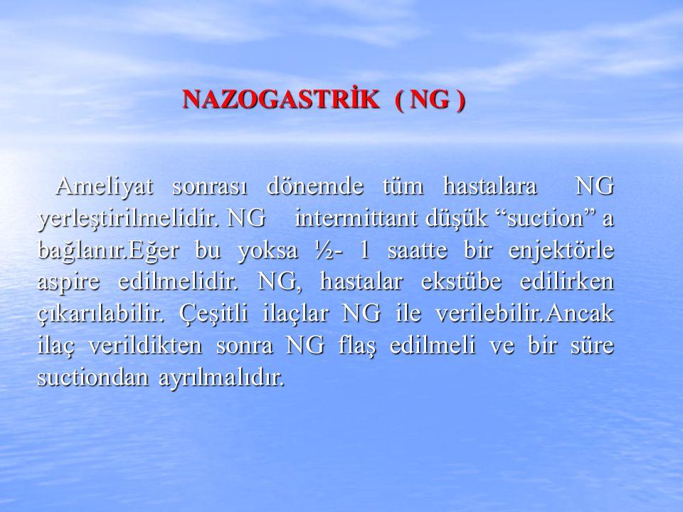 NAZOGASTRİK ( NG )