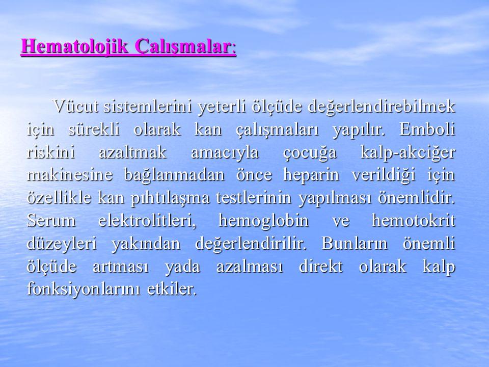 Hematolojik Çalışmalar: