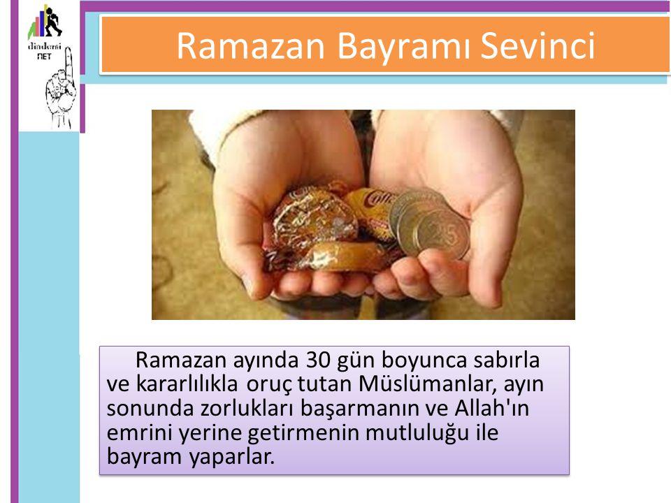 Ramazan Bayramı Sevinci