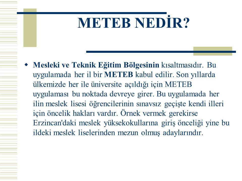 METEB NEDİR