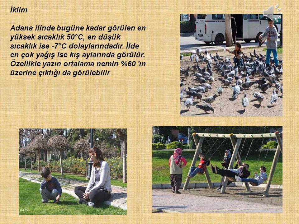 İklim Adana ilinde bugüne kadar görülen en yüksek sıcaklık 50°C, en düşük sıcaklık ise -7°C dolaylarındadır.