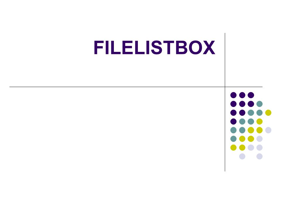 FILELISTBOX