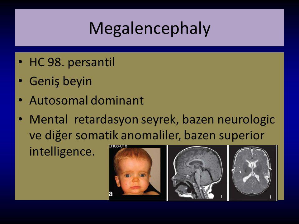 Megalencephaly HC 98. persantil Geniş beyin Autosomal dominant