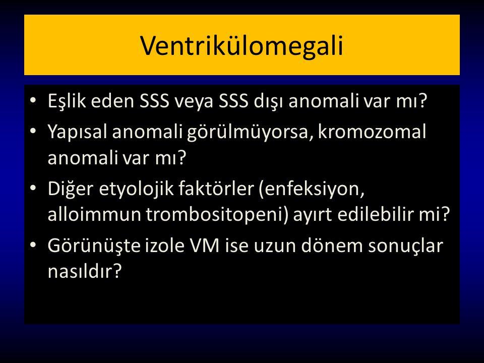 Ventrikülomegali Eşlik eden SSS veya SSS dışı anomali var mı