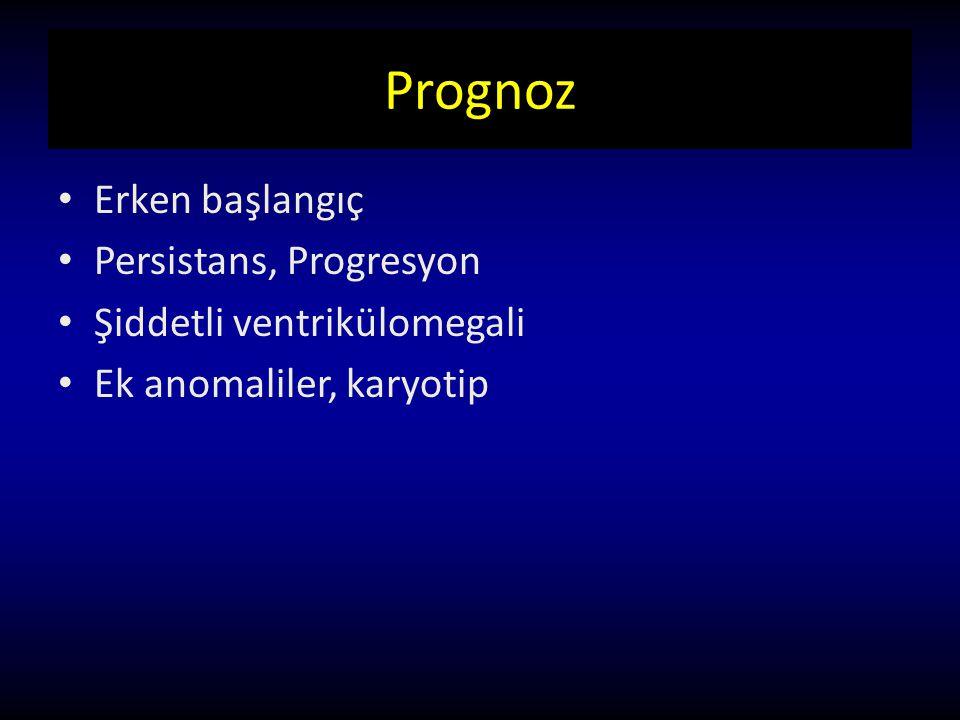Prognoz Erken başlangıç Persistans, Progresyon