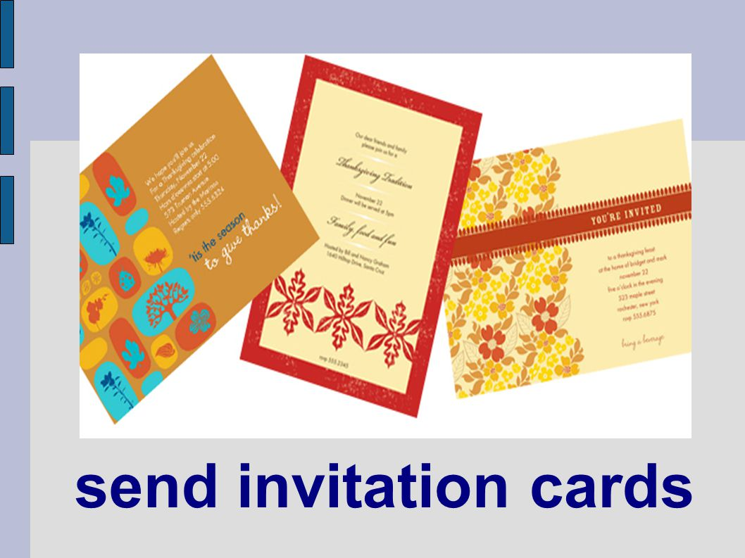 send invitation cards