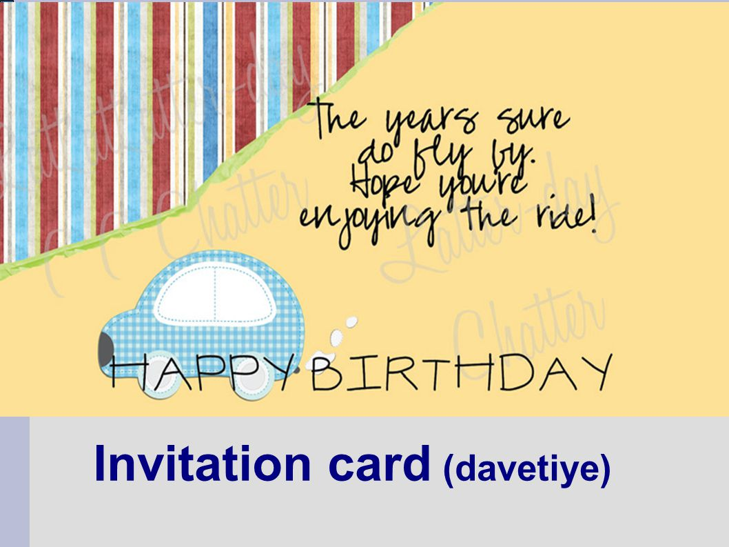 Invitation card (davetiye)