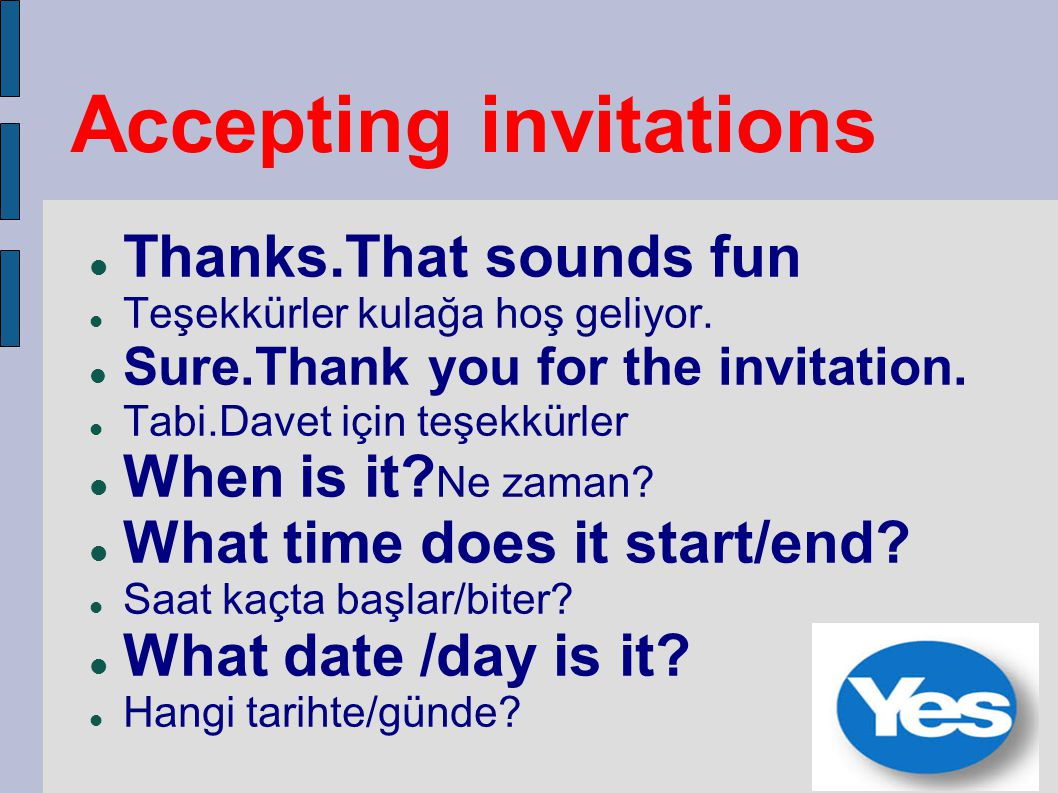 Accepting invitations