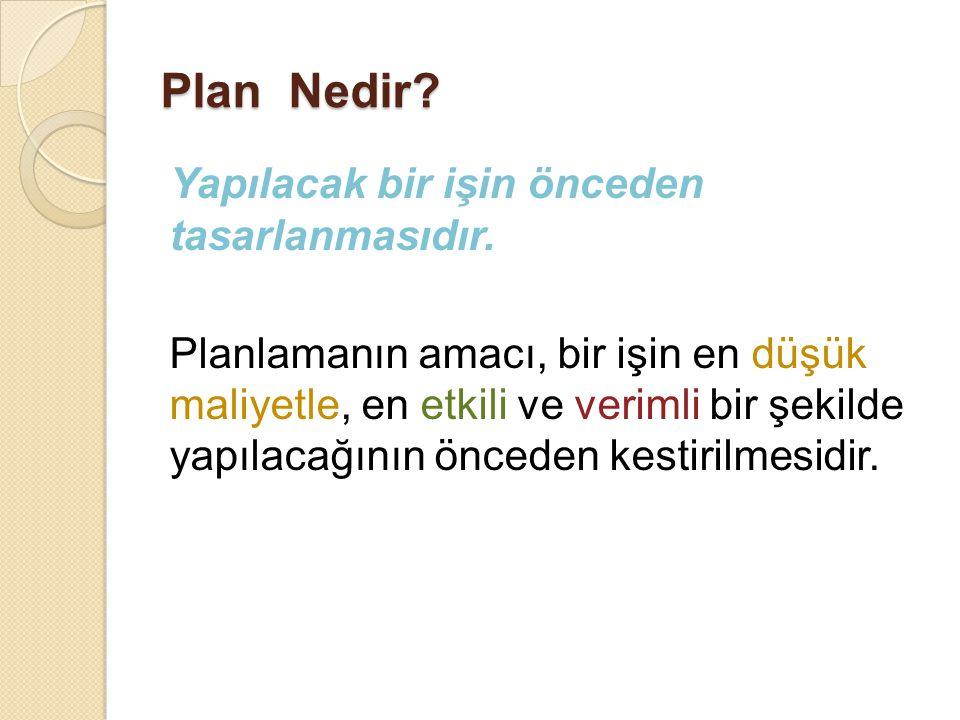 Plan Nedir