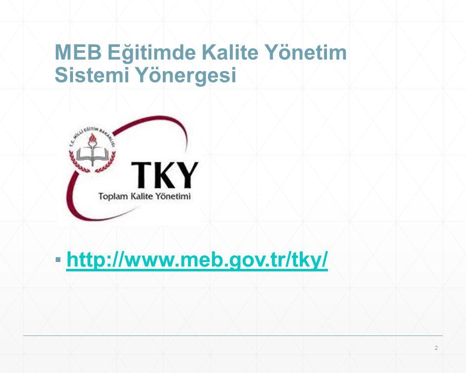 MEB Eğitimde Kalite Yönetim Sistemi Yönergesi