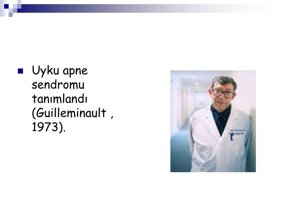 Uyku apne sendromu tanımlandı (Guilleminault , 1973).