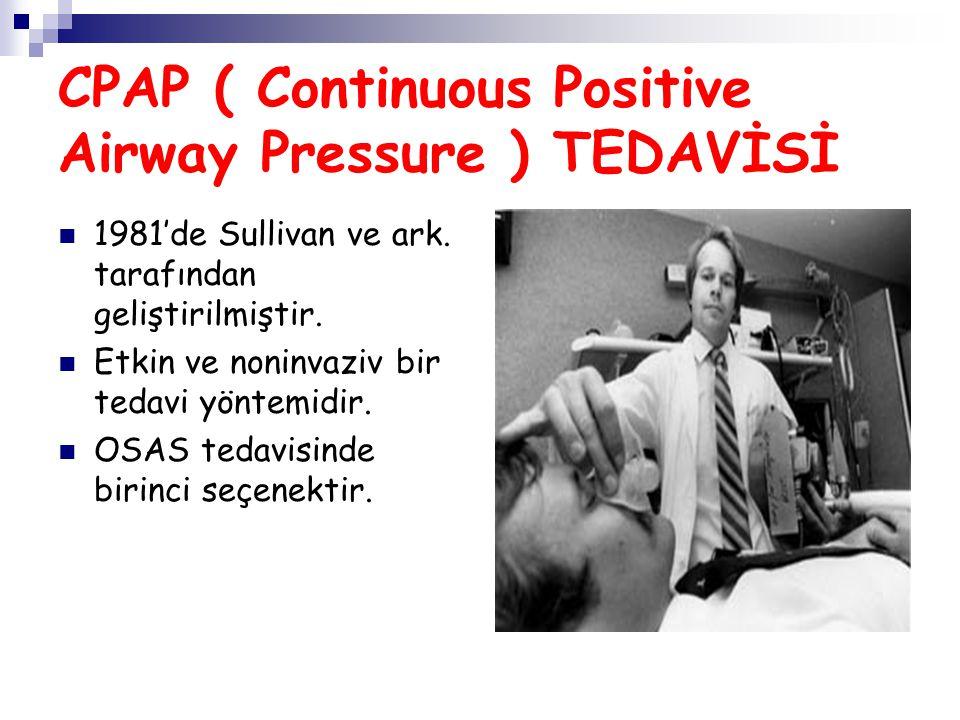 CPAP ( Continuous Positive Airway Pressure ) TEDAVİSİ