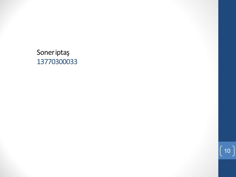 Soner iptaş 13770300033