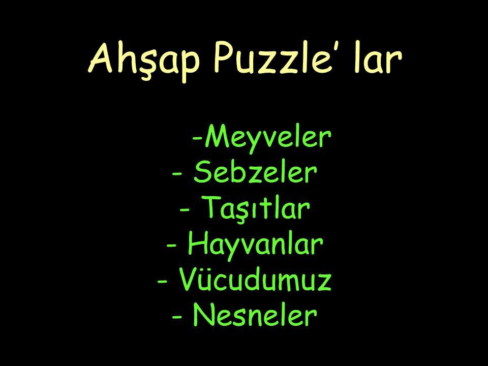 Ahşap Puzzle' lar -Meyveler