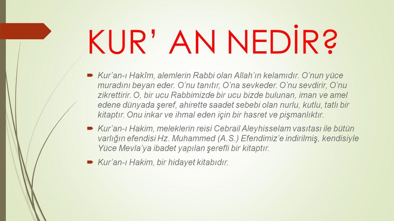 KUR' AN NEDİR