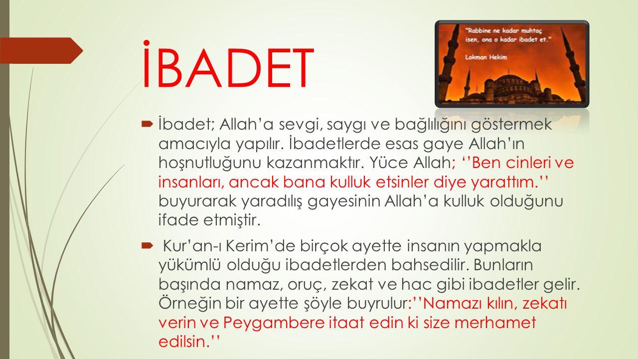 İBADET