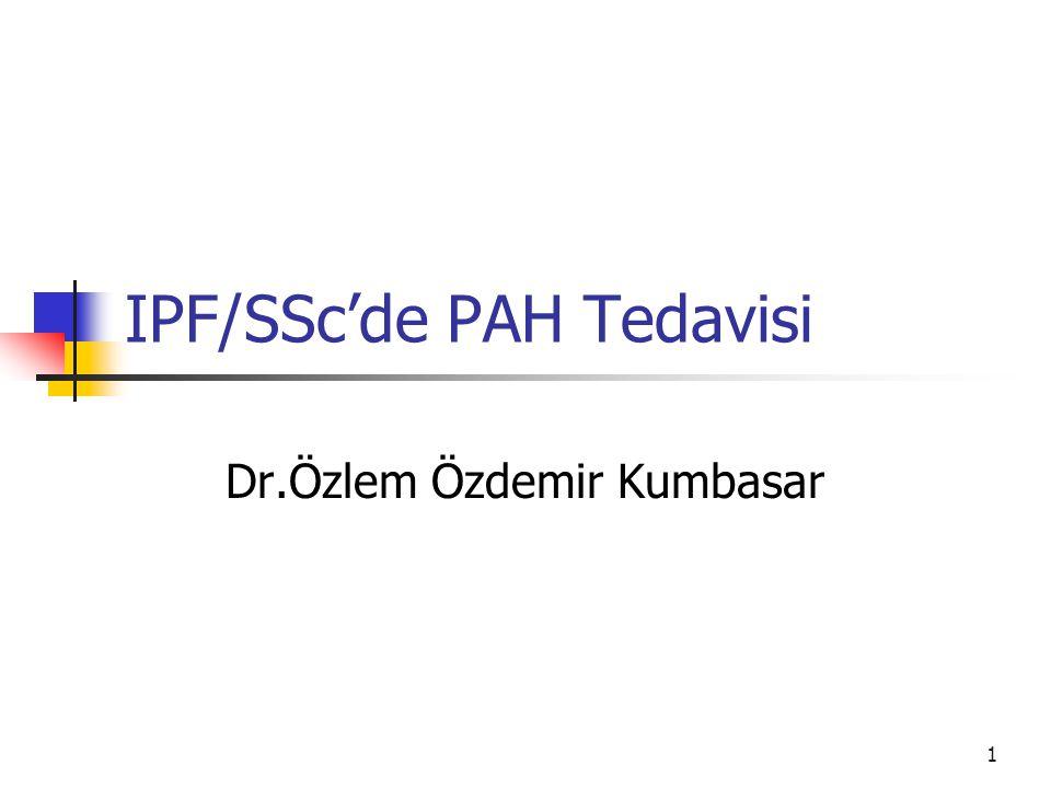 IPF/SSc'de PAH Tedavisi