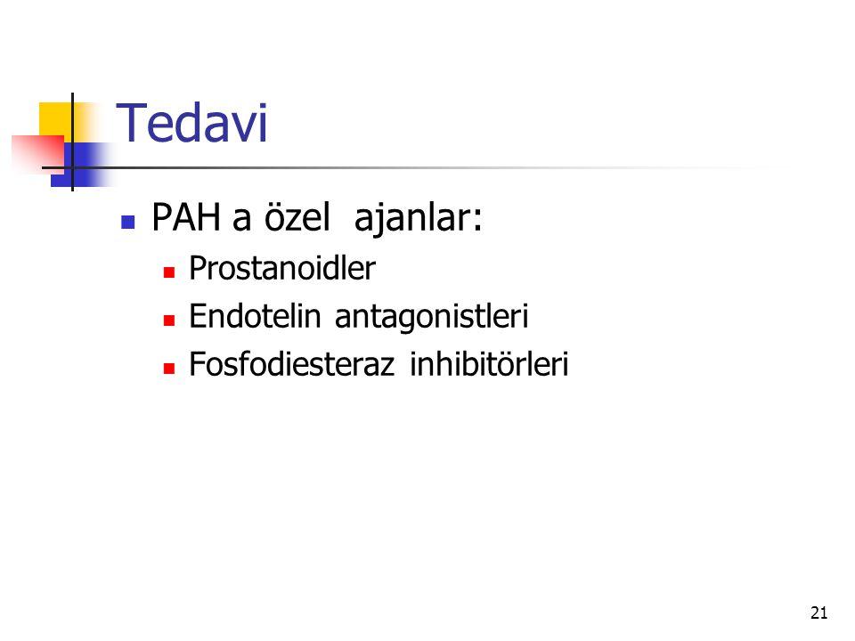 Tedavi PAH a özel ajanlar: Prostanoidler Endotelin antagonistleri